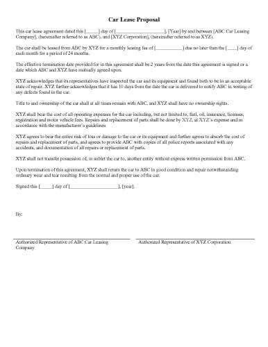 Printable Sample – Car-Lease-Proposal