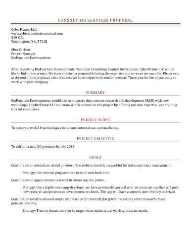 hr consulting proposal template - 25 new collection of proposal templates samples and