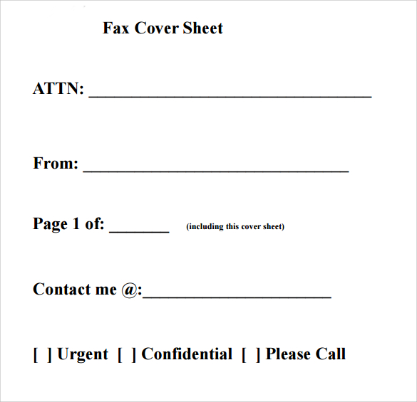 Basic Fax Cover Sheet Printable Editable Pdf Doc