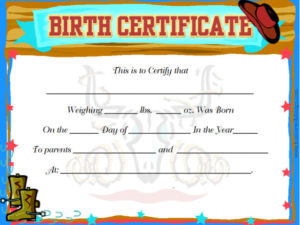 Cute baby boy birth certificates free printable birth for Boy birth certificate template