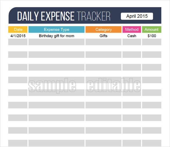 Receipt Tracker Template Acurnamedia