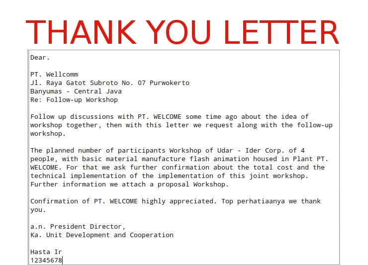 Business thank you letter sample template flashek