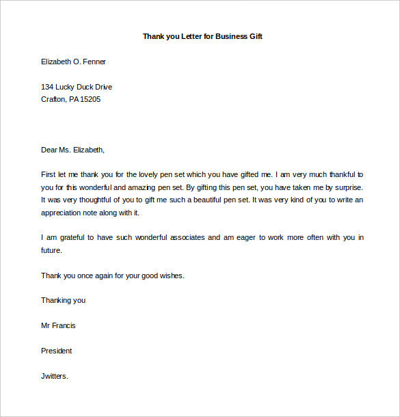 Business Thank You Template Letters | Samples And Templates
