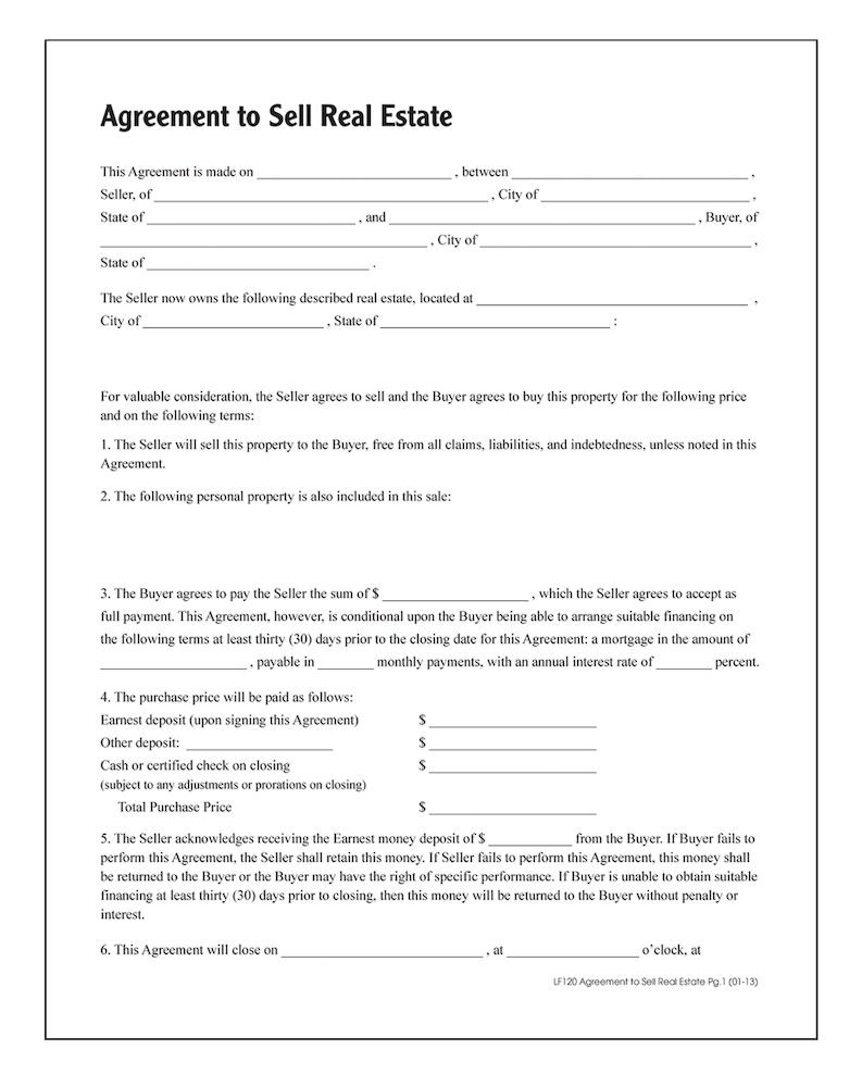 agreement-to-sell-real-estate