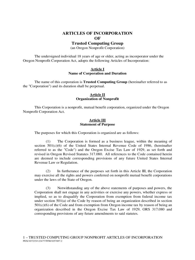 Pdfamendedandrestatedarticlesofincorporationtemplate - Amended articles of incorporation template