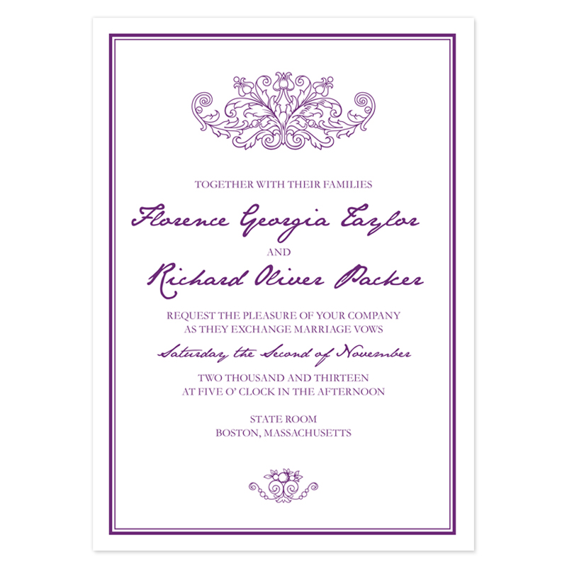 Wedding Invitation Letter Sample Free – Mini Bridal