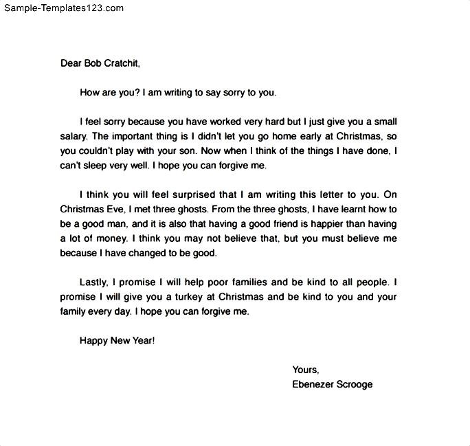 Letter Of Apology To A Friend from www.samplesdownloadblog.com